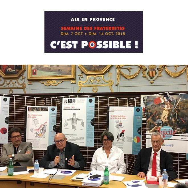 Semaine des Fraternités à Aix-en-Provence – 11 oct.2018