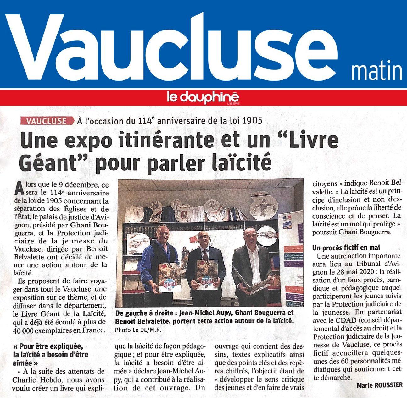 Vaucluse-Matin / Le Dauphiné Libéré
