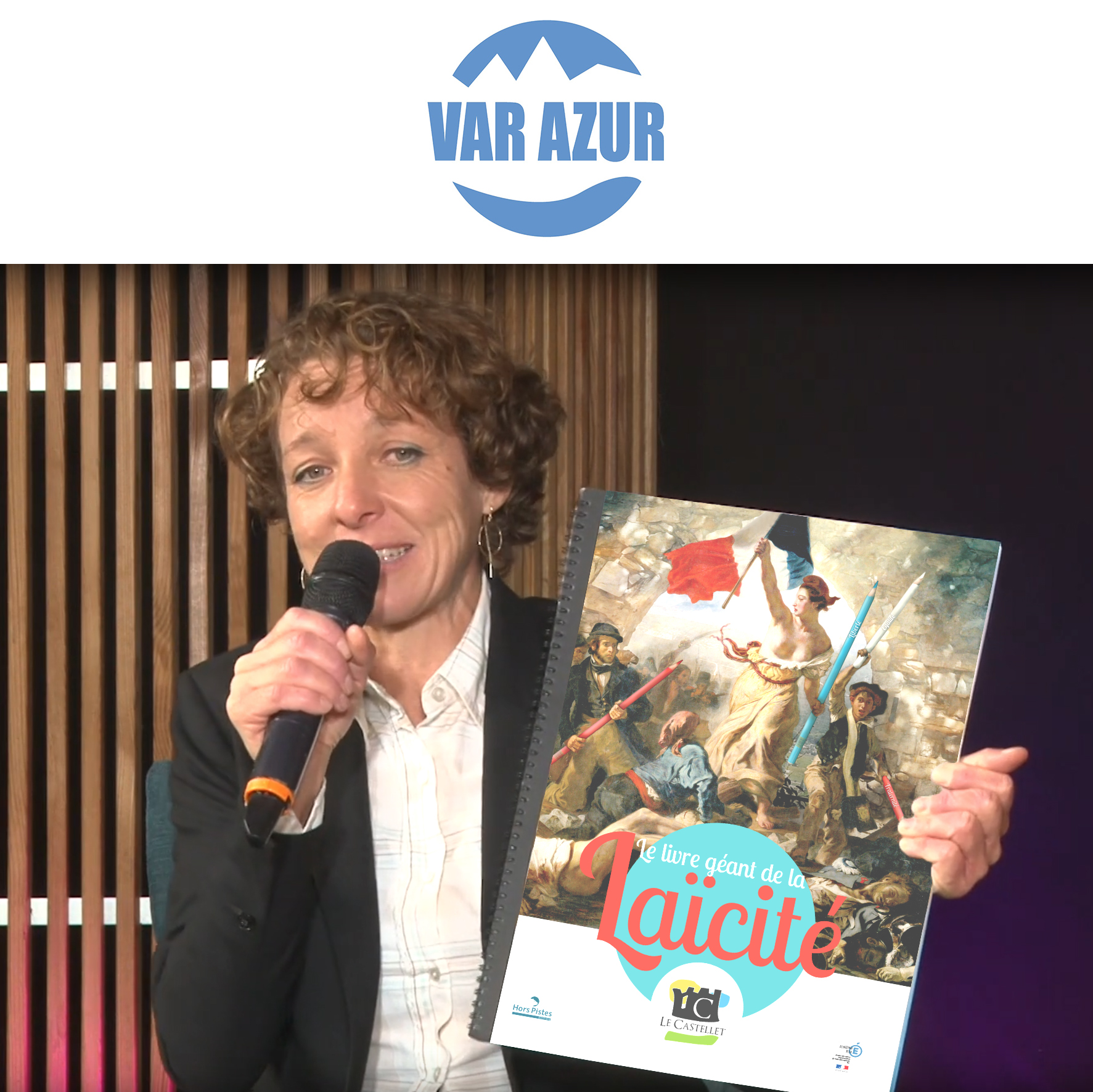 VAR AZUR TV Présente les Livres géants Laïcité du Castellet et de l'AMF Var
