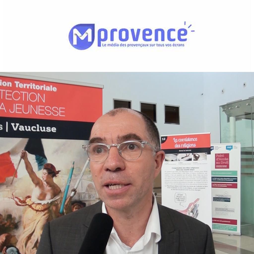 ITW Benoit Belvalette Livre géant laicité PJJ Avignon 28/11/19