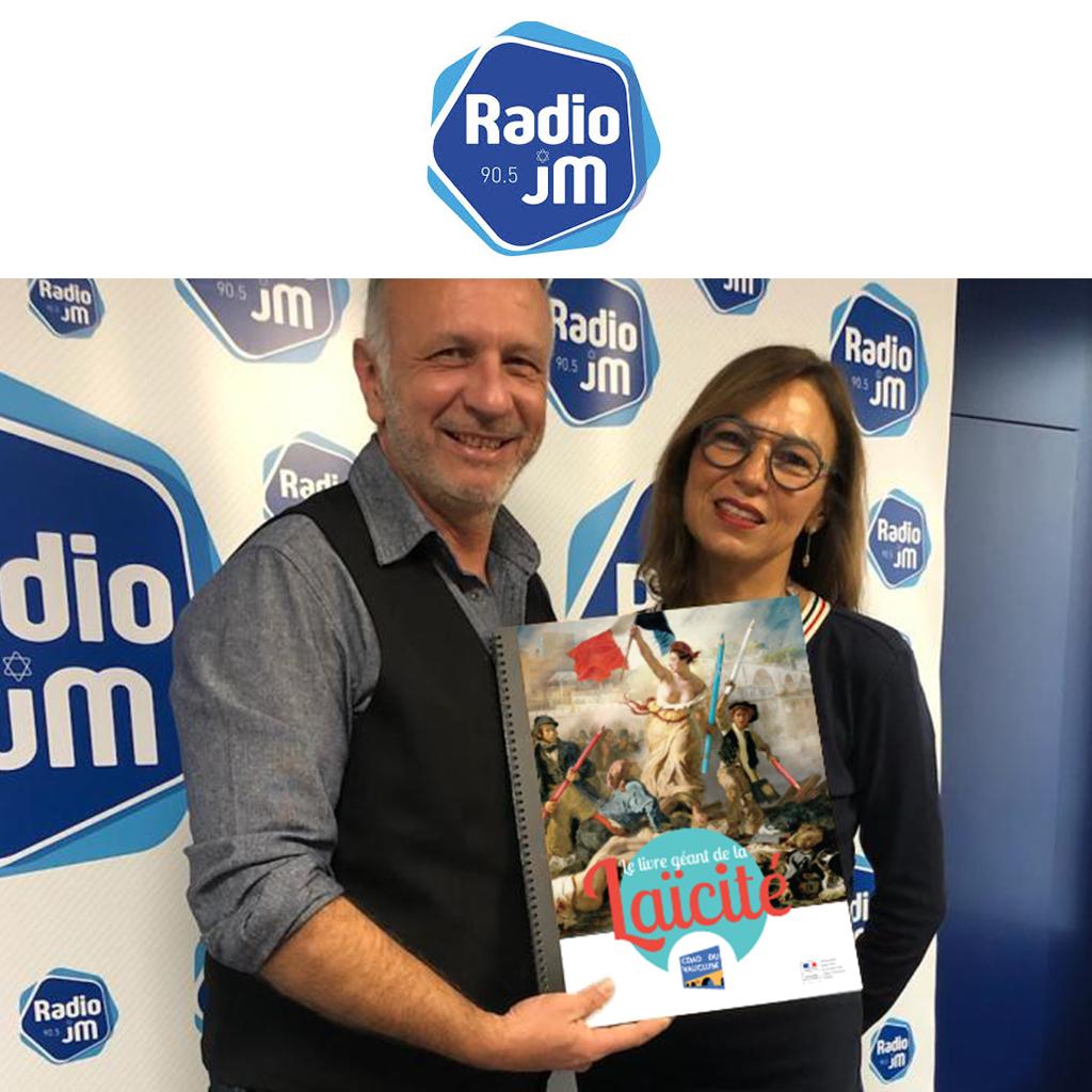 Radio JM 90,5 La Radio Juive de Marseille présente le Livre géant Laïcité du CDAD et de la PJJ Alpes-Vaucluse