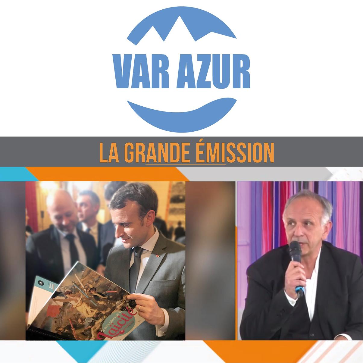 LA GRANDE EMISSION DE VAR AZUR TV avec le livre Géant de la laïcité
