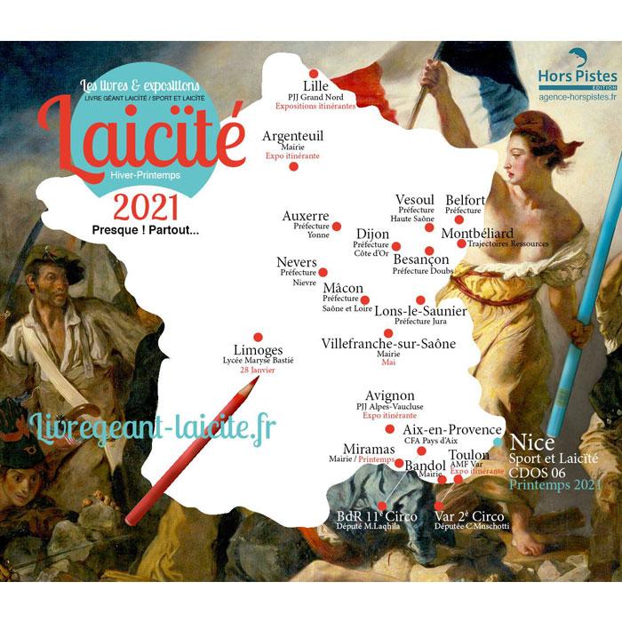 Les Expositions / Livres Géants Laïcité personnalisés ( presque ) partout en 2021…