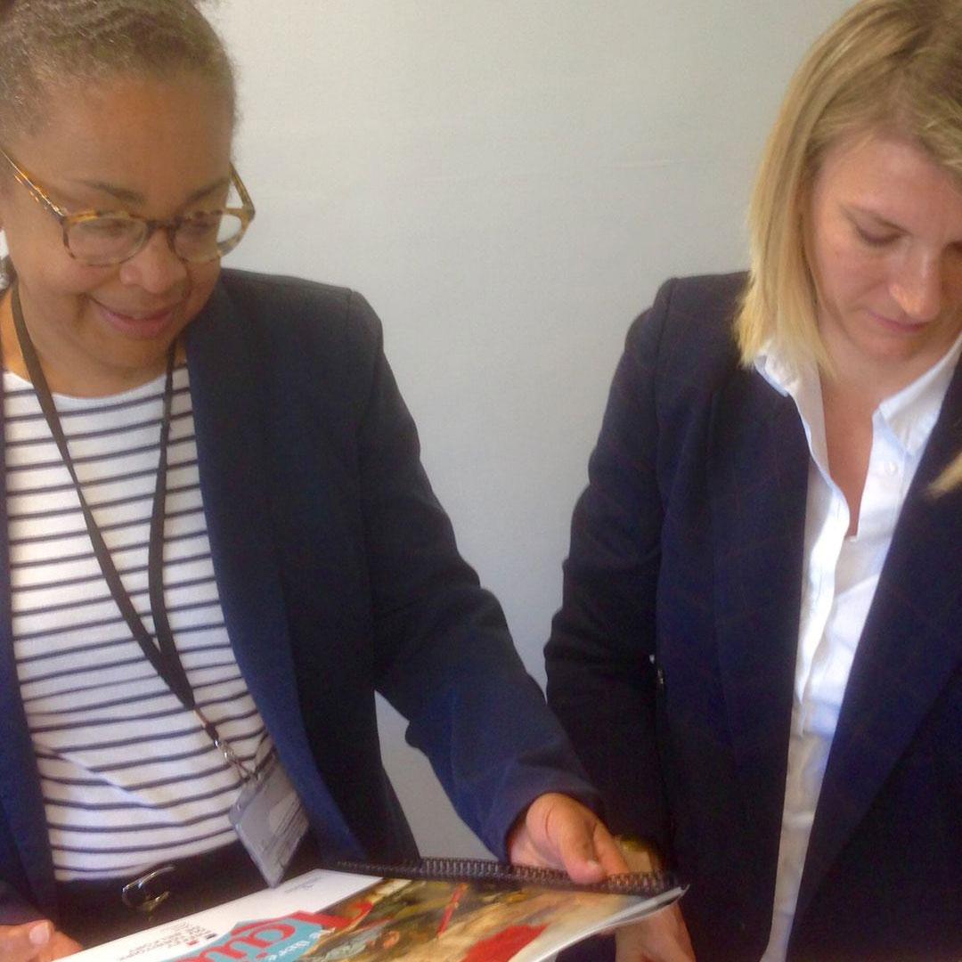 Madame la Sous-Préfète Patricia VALMA et Angélique BAHEUX nouvelle Référente Laïcité de la Préfecture des Alpes-Martimes